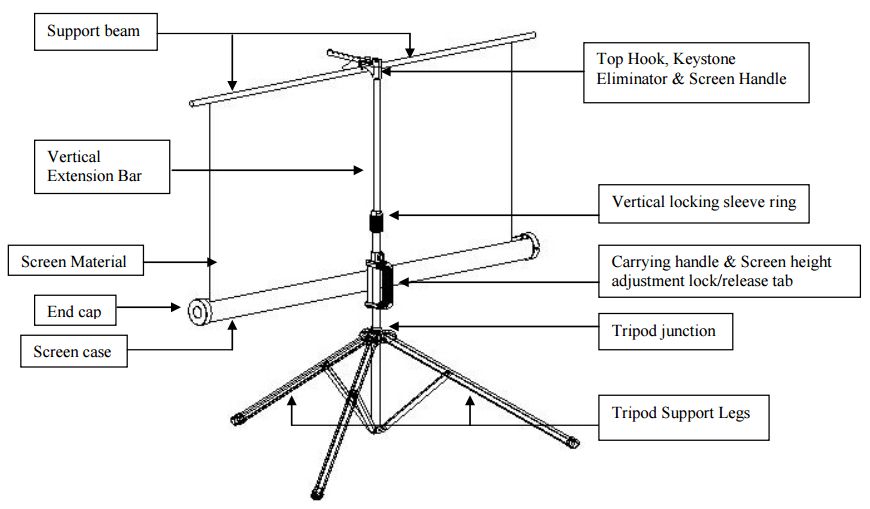 XY Screens portable tripod projector screen factory price for office-5