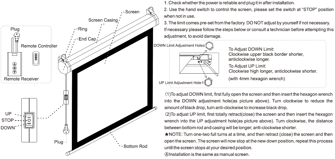 XY Screens drop down projector screen design for students