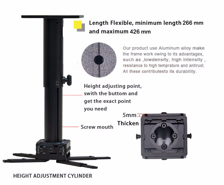 XY Screens universal projector floor mount directly sale for movies-1