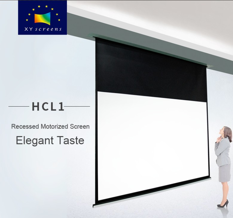 XY Screens-Professional In-ceiling Electric Projector Screen Hcl1 Supplier