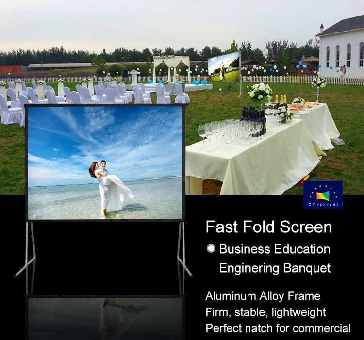 XY Screens-Find 80-400 Inch Portable Fast Folding Projection Screen For Outdoor Ff1