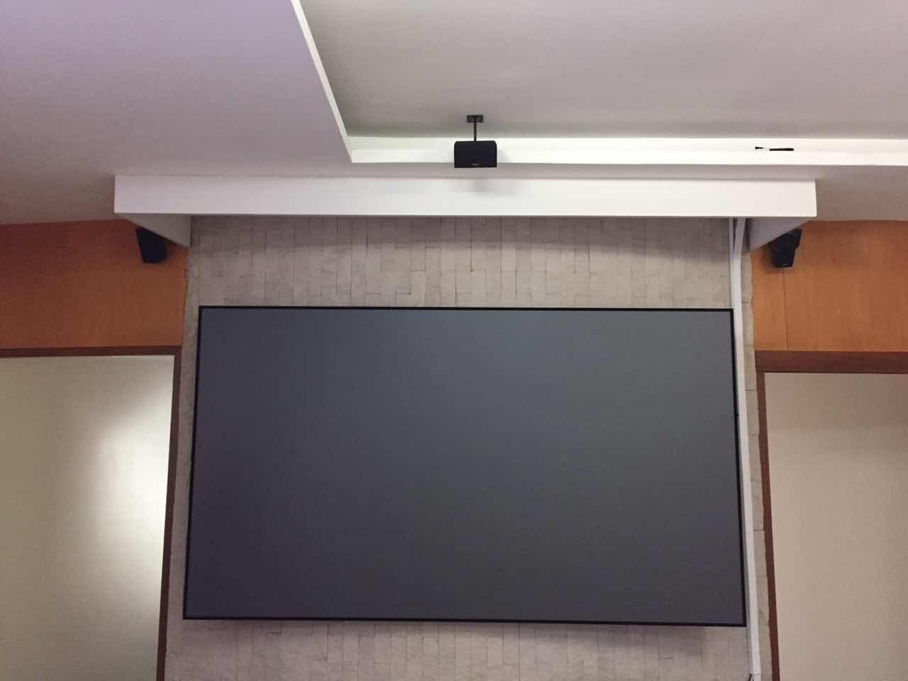black Ambient Light Rejecting Projector Screen factory price for home-5