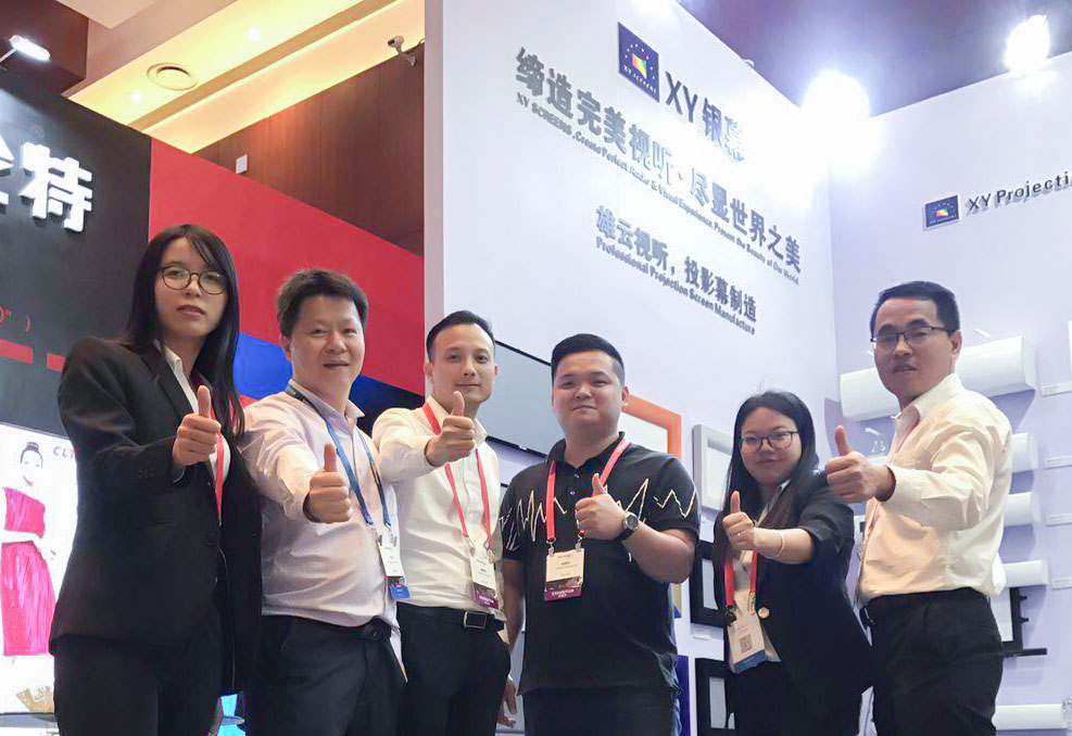 XY Screens-XY Screens Achieves Complete Success at InfoComm China 2018-4