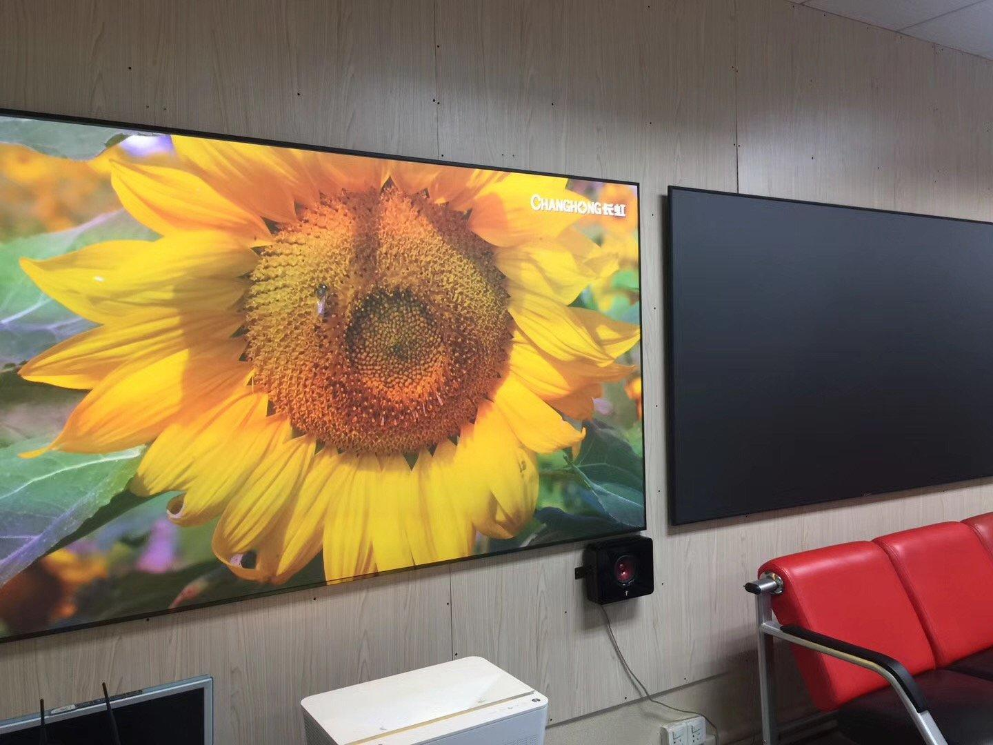 XY Screens-Ambient Light Rejecting Ultra Short Throw Projector Screen With Ultra Thin