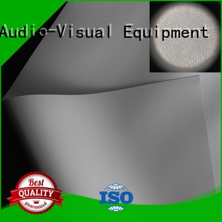 XY Screens flexible front and rear fabric design for projector screen