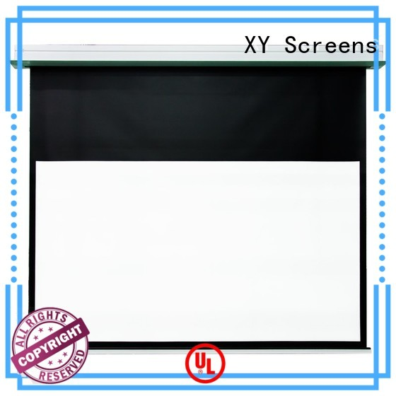 XY Screens electric Home theater projection screen design for indoors