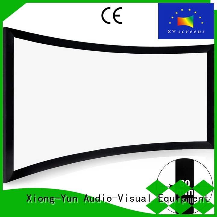 XY Screens slim home theater projector and screen for ktv