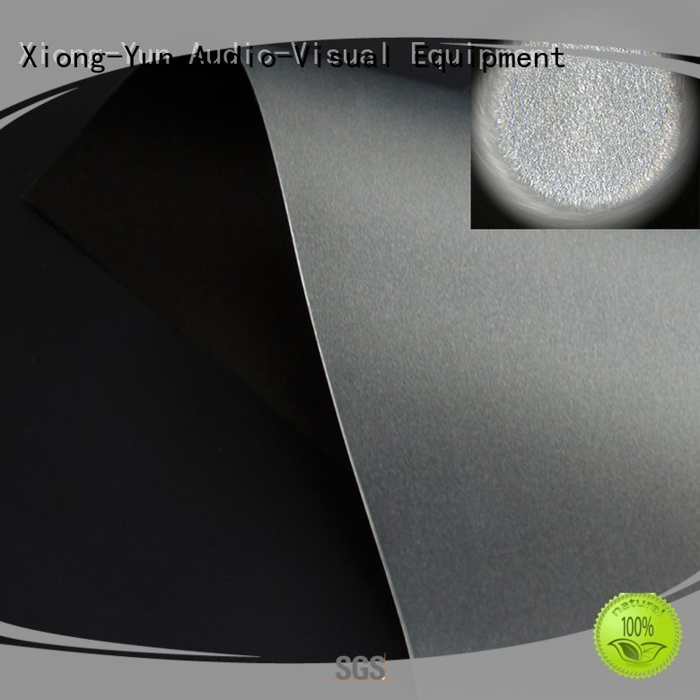 black ambient matte white fabric for projection screen XY Screens
