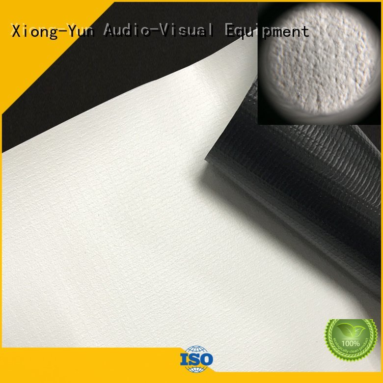 XY Screens Brand silver white HD home theater projection screens with soft PVC fabric matte hd
