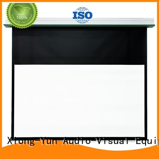 XY Screens stable fixed projector screen factory for living room