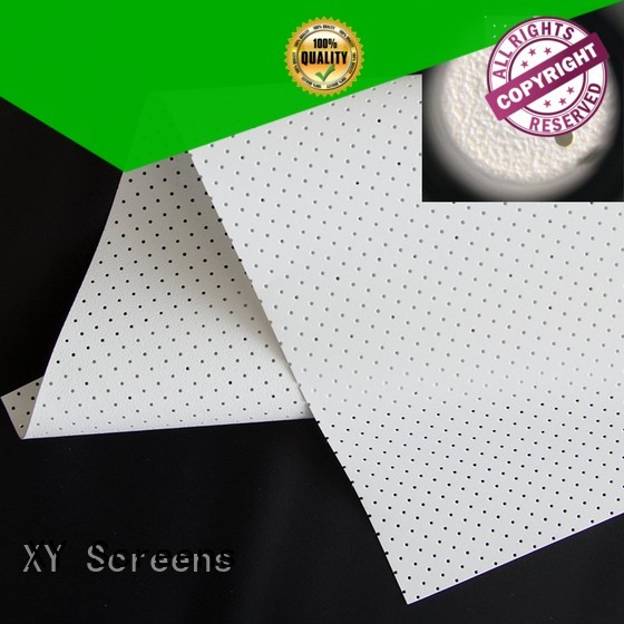 XY Screens metallic acoustic absorbing fabric customized for thin frame projector screen
