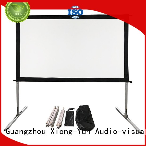 XY Screens fast folding outdoor retractable projector screen supplier