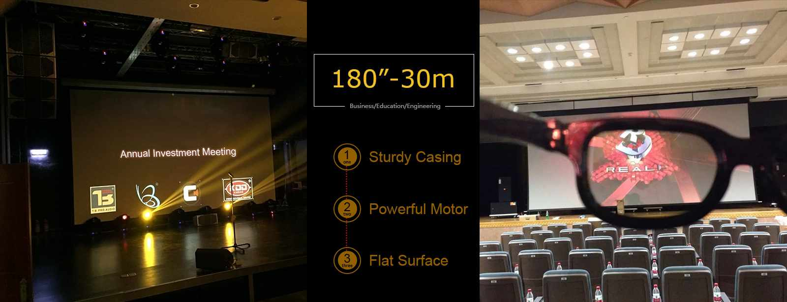 category-Large Size Commercial Motorized Screens | Movie Projector Price -XY Screens-img