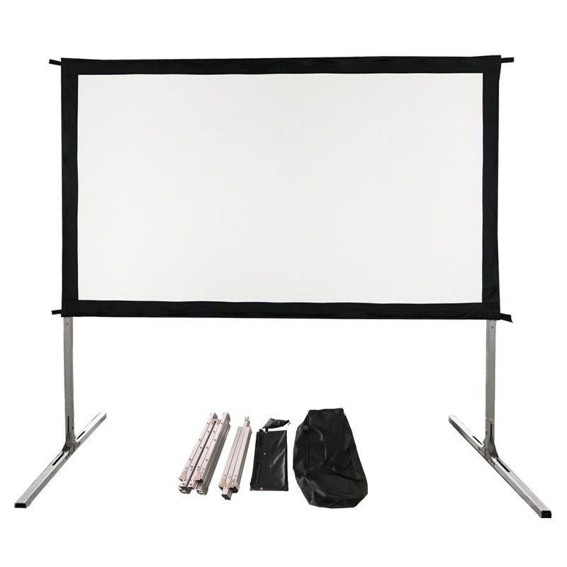 XY Screens 80-135 Inch Portable Fast Fold Screen with Carry Bag OPF Series Outdoor Projector Screens image20