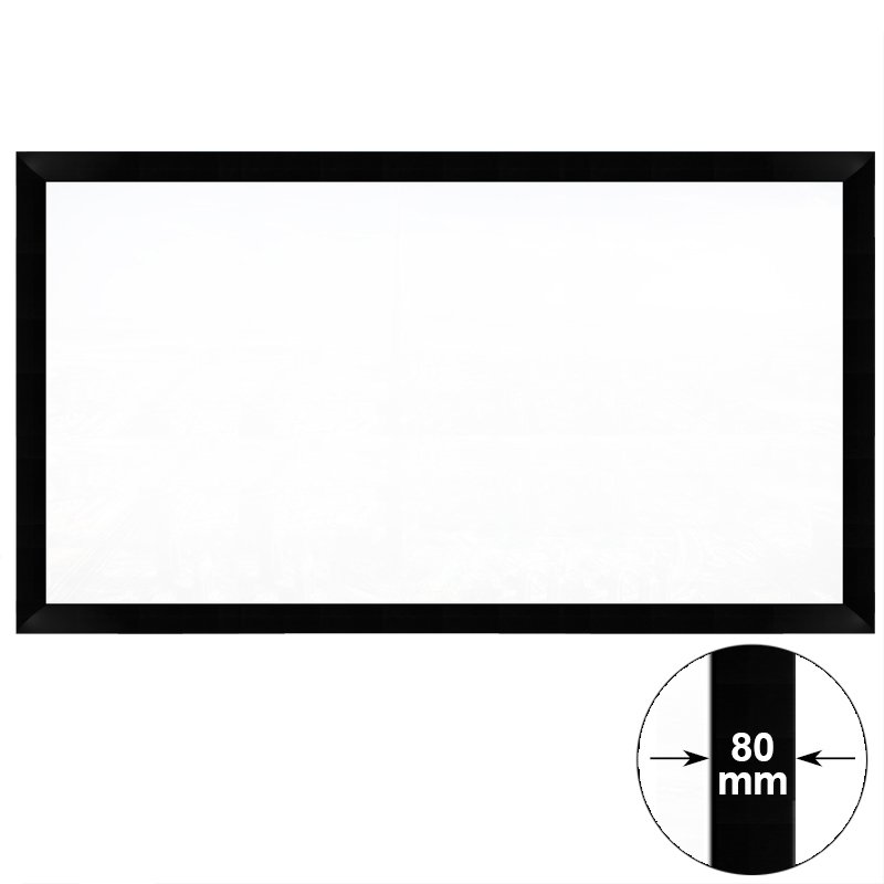 XY Screens 80-200 Inch Fixed Frame Projection Screen for Home Theater HK80C Series Home Theater Fixed Frame Projector Screens image2