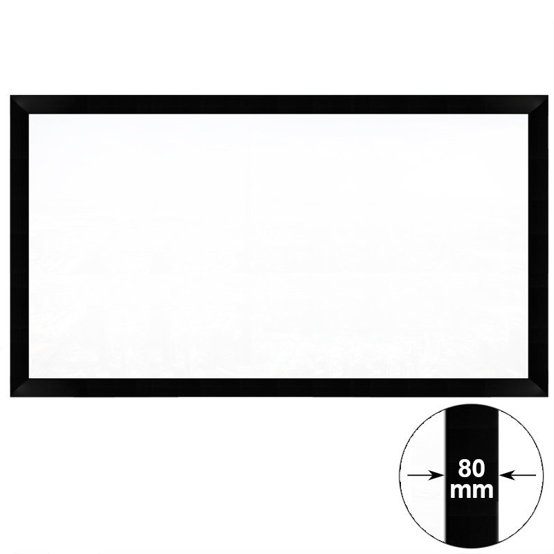 HD Home Theater Fixed Frame Projector Screen  HK80B Series