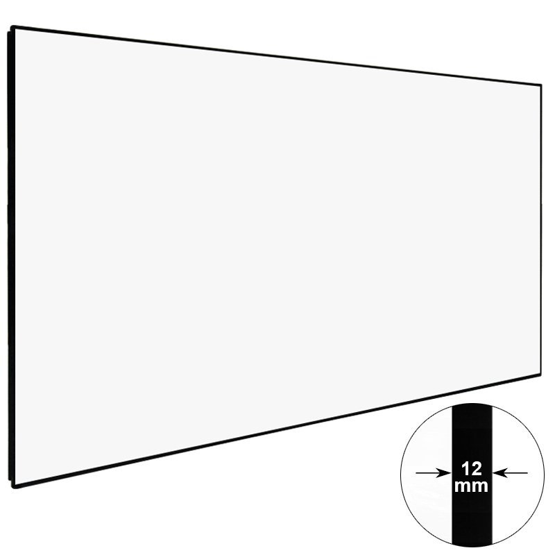 Thin Bezel Fixed Frame Home Theater Projector Screen ZHK100B Series