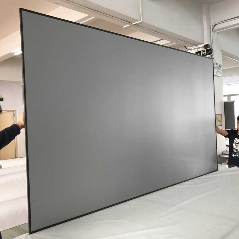 XY Screens Intelligent Tab-tensioned Motorized Projection Screen EC1 Series Tab tensioned series image10