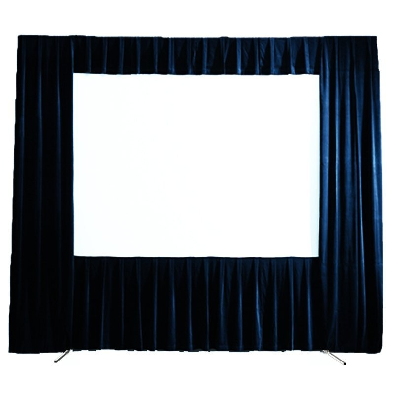 Folding Frame Projector Screen with Black Drape FF1 Series