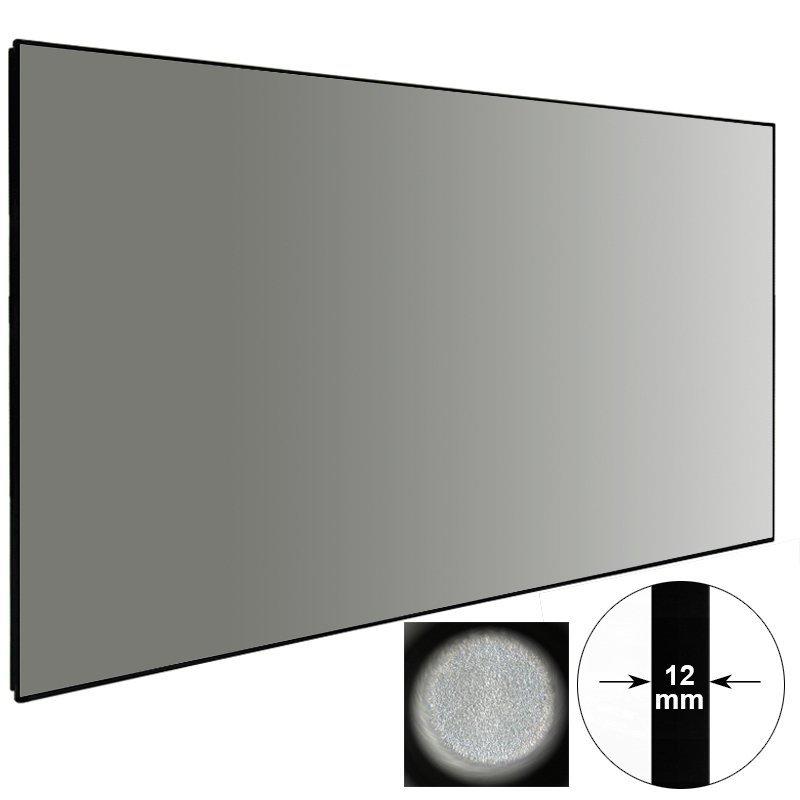 Slim Bezel High Gain Ambient Light Rejecting Projector Screen ZHK100B-Black Crystal HG