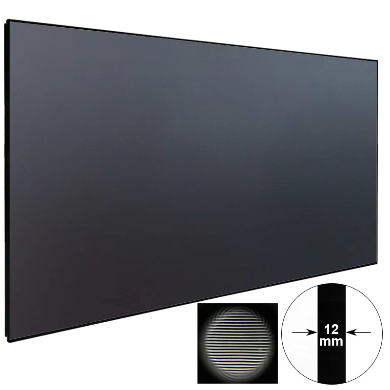 XY Screens Ambient Light Rejecting Ultra Short Throw Projector Screen With Ultra Thin Frame ZHK100B-PET Crystal Ultra Short Throw Projector Screen image14