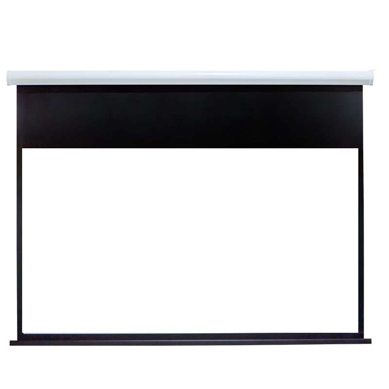 Curved Iron Motorized Projection Screen RC80