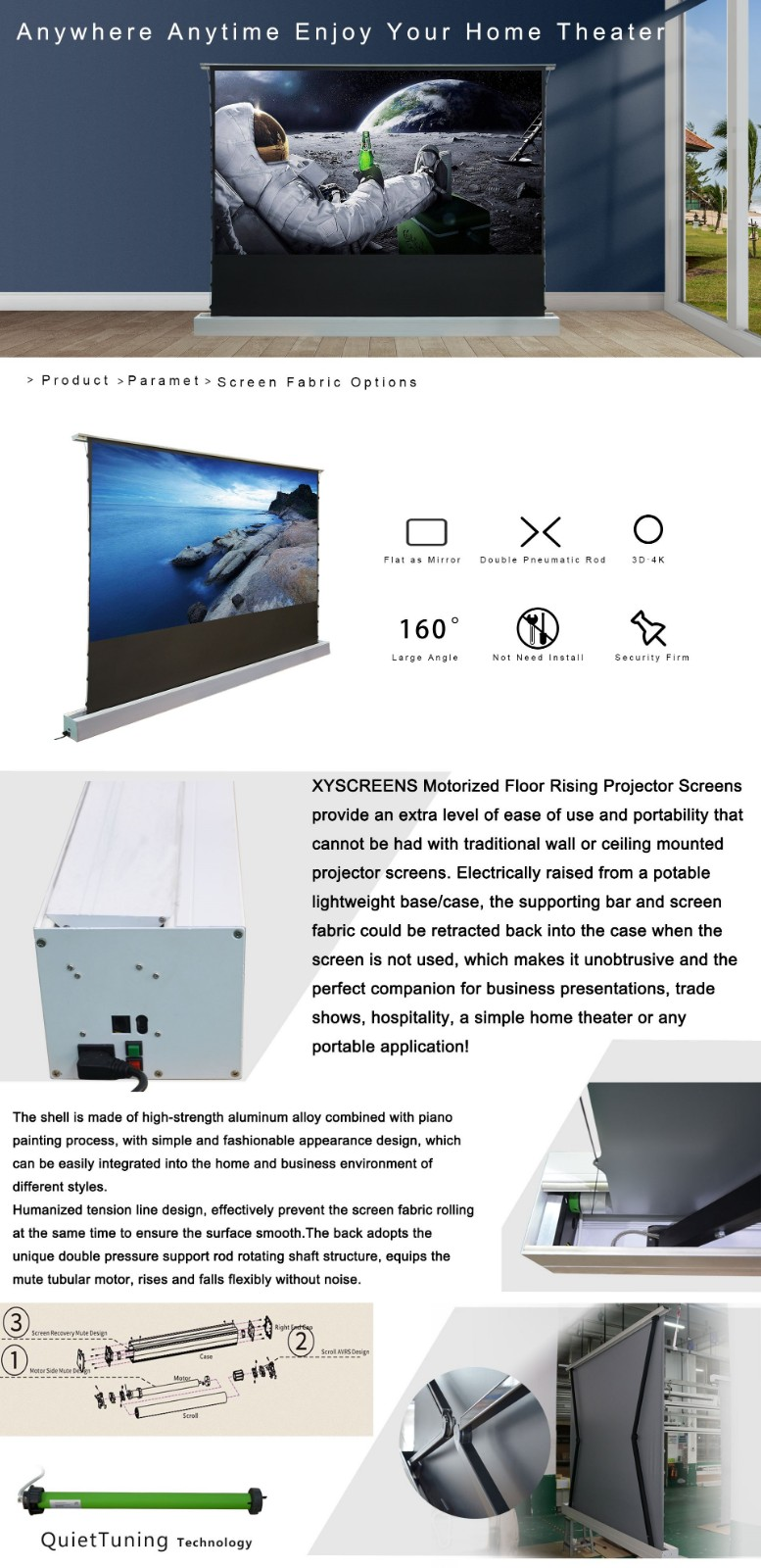 manual projection screen price inquire now for home-5