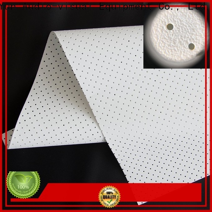 metallic Acoustically Transparent Fabrics customized for motorized projection screen