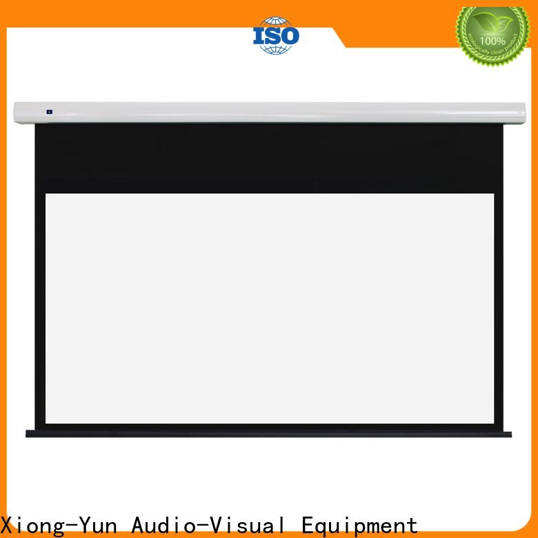 white Motorized Projection Screen inquire now for home