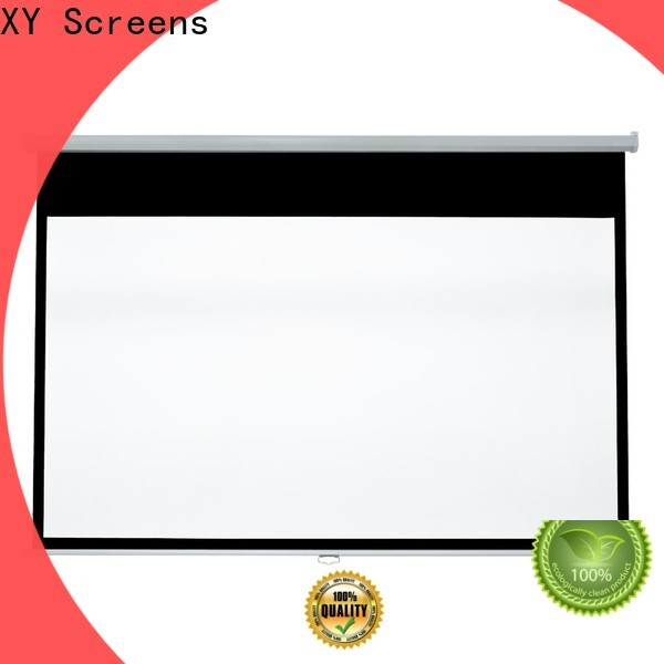 coated sheet pull down projector screen with good price for students
