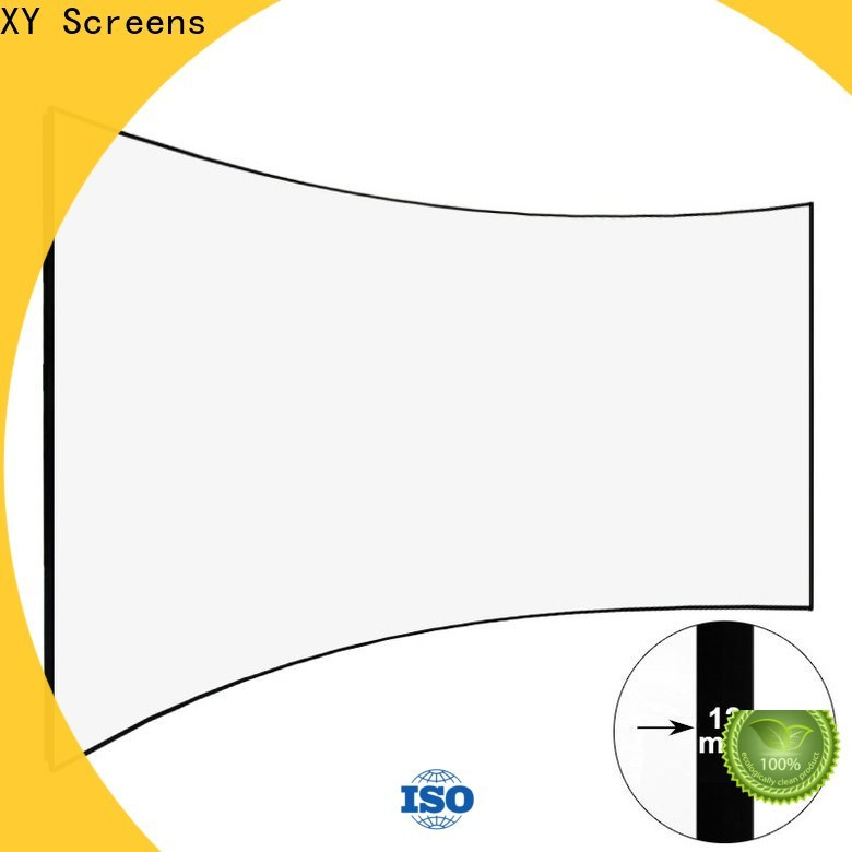XY Screens thin Home Entertainment Curved Projector Screens wholesale for ktv