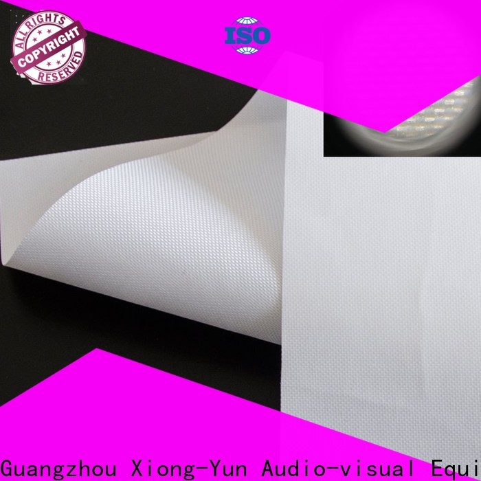 transparent Rear Fabrics design for fixed frame projection screen