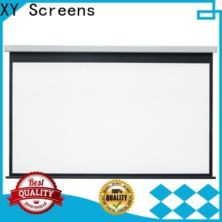 retractable Home theater projection screen factory price for theater