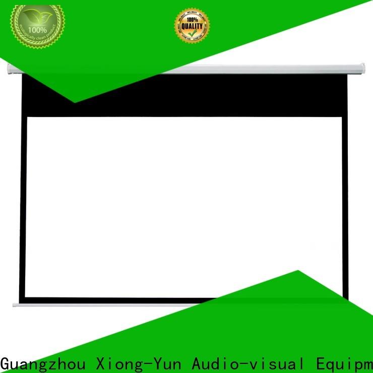 retractable motorized projector screen supplier for indoors