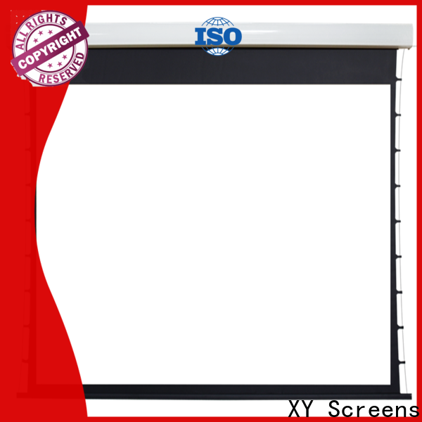 XY Screens curved motorized projector screen supplier for home