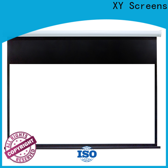 XY Screens Motorized Projection Screen personalized for rooms