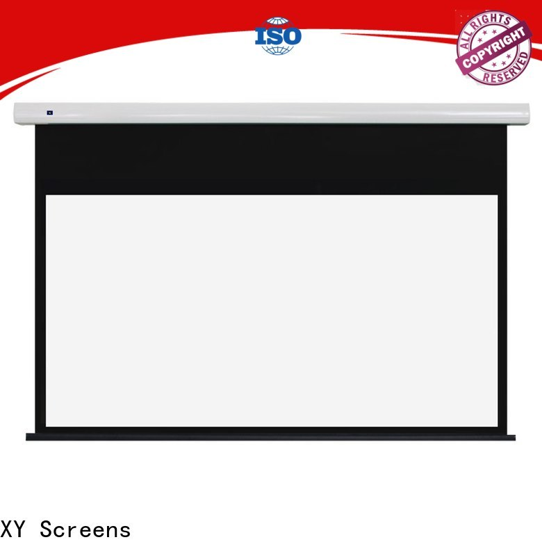 XY Screens electric theater projector screen factory for home