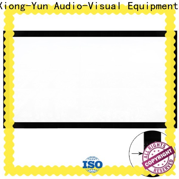 XY Screens movie projector screen supplier for office