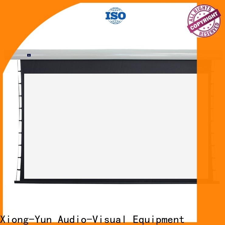 XY Screens manual tensioned projector screen factory price for living room