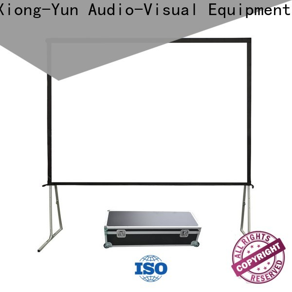 stable outdoor retractable projector screen personalized