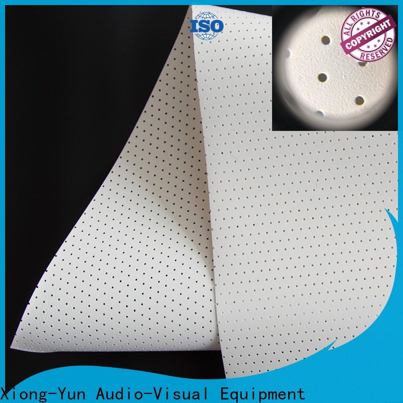 XY Screens perforating acoustically transparent screen customized for fixed frame projection screen