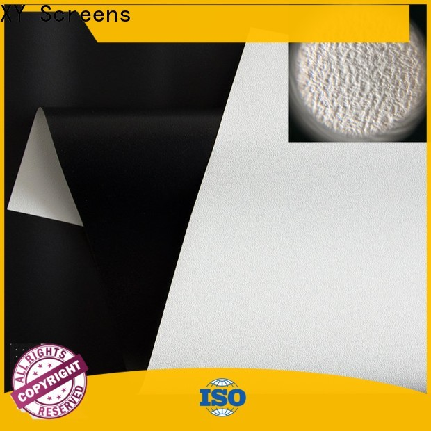 XY Screens front and rear fabric with good price for motorized projection screen