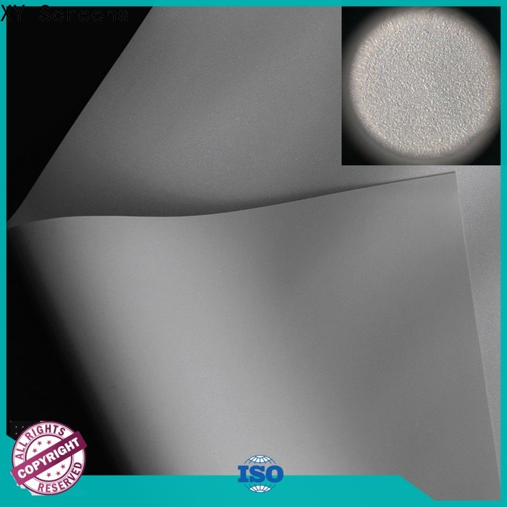 XY Screens standard front and rear fabric inquire now for thin frame projector screen