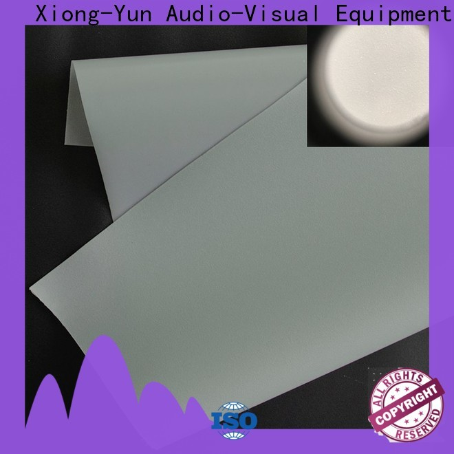 XY Screens hard rear projection fabric with good price for motorized projection screen