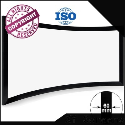XY Screens thin Home Entertainment Curved Projector Screens factory price for home cinema