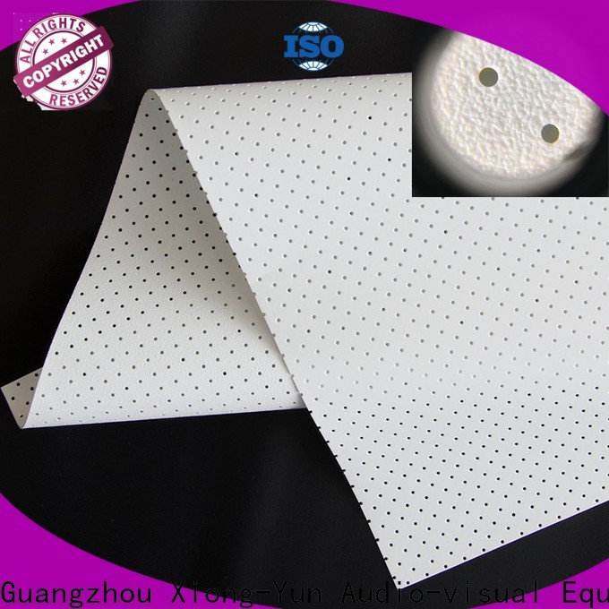 metallic acoustic absorbing fabric directly sale for projector screen