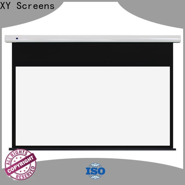 XY Screens motorised projector screen factory price for rooms