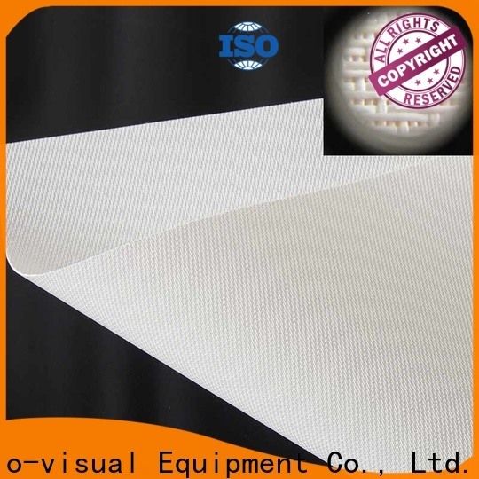 XY Screens acoustic screen material series for fixed frame projection screen