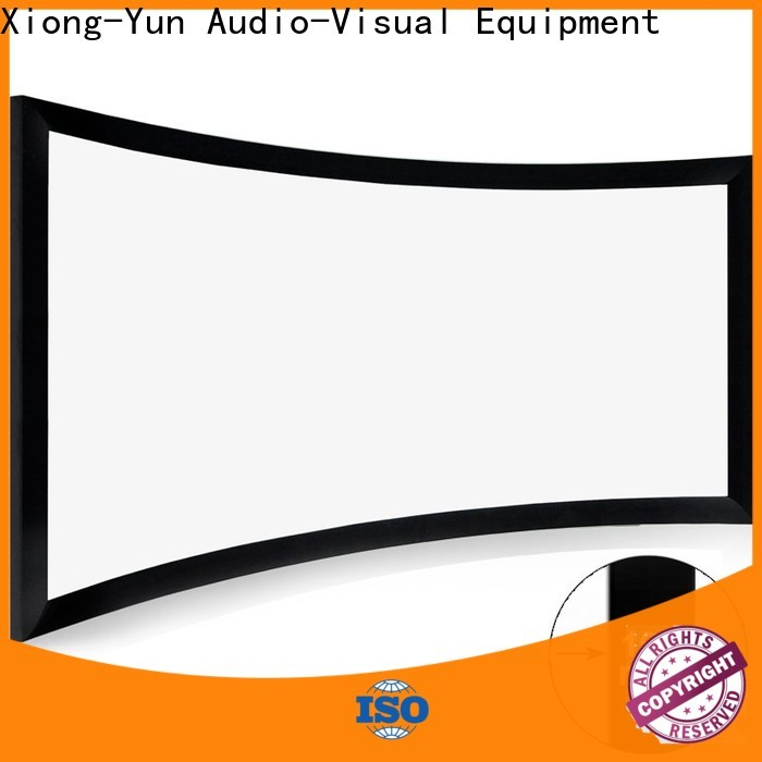 XY Screens curved curved projector screen diy customized for indoors