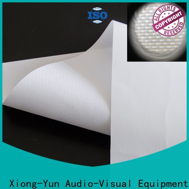 XY Screens rear projection screen material design for motorized projection screen